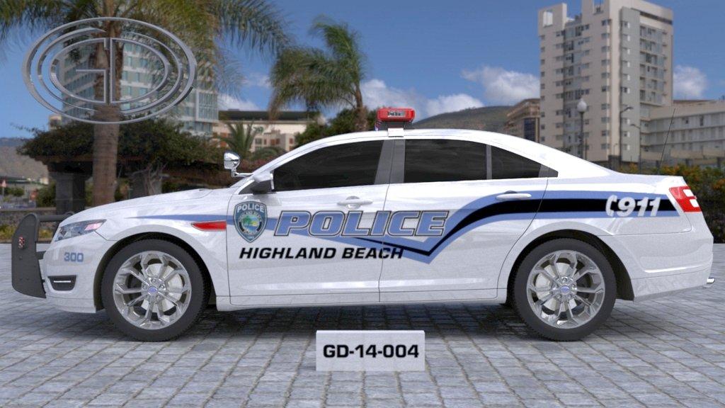 sideview design of a police highland beach car GD-14-004