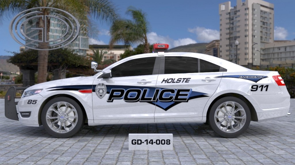 sideview design of a holste police car GD-14-008