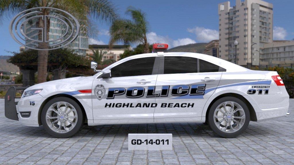 sideview design of a police highland beach car GD-14-011