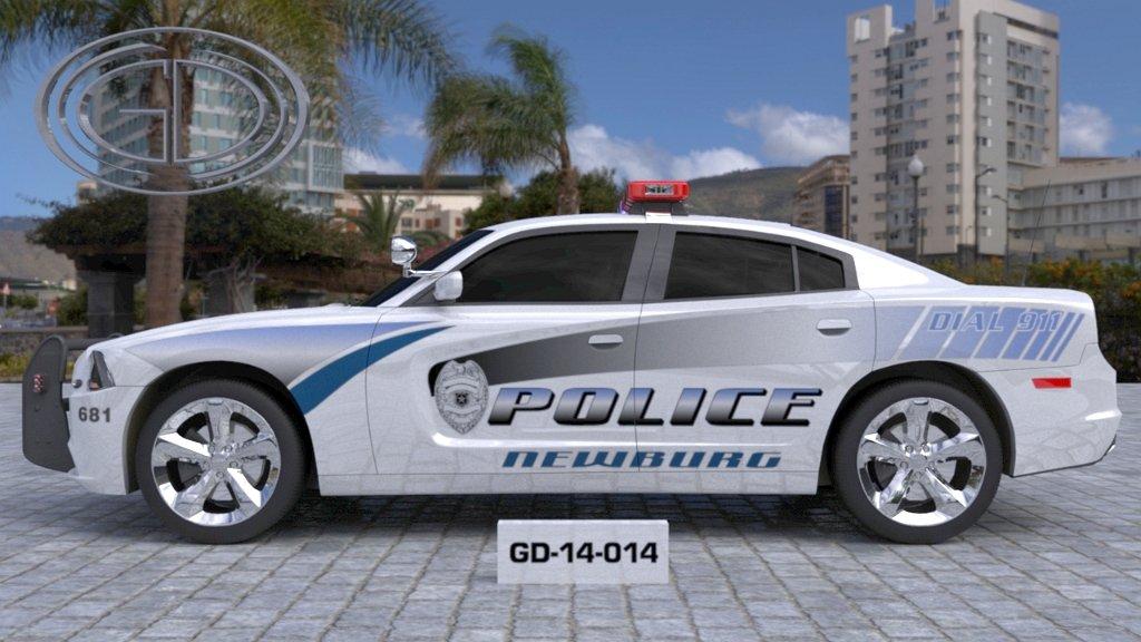 sideview design of a newburg police car GD-14-014