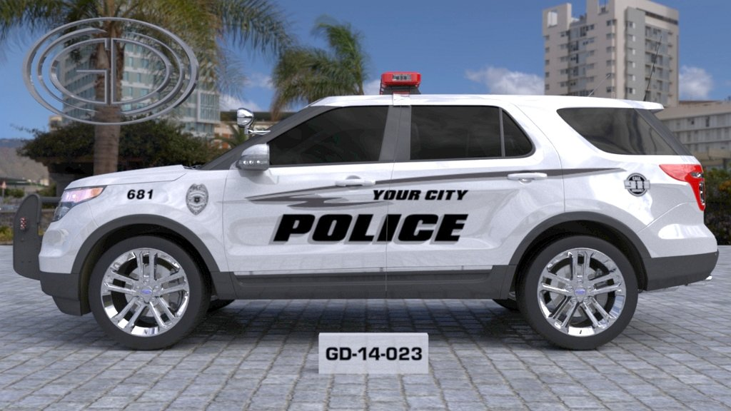 sideview design of a your city police suv car GD-14-023