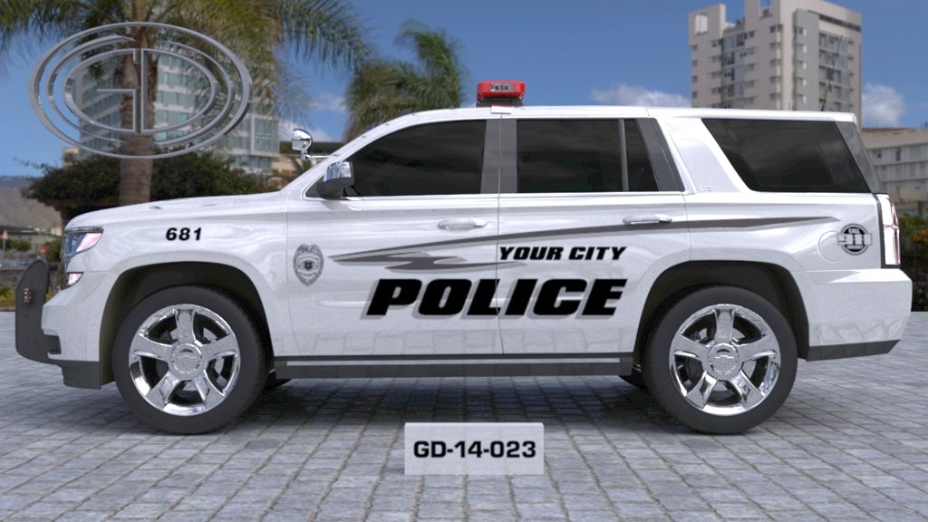 sideview design of a your city suv police car