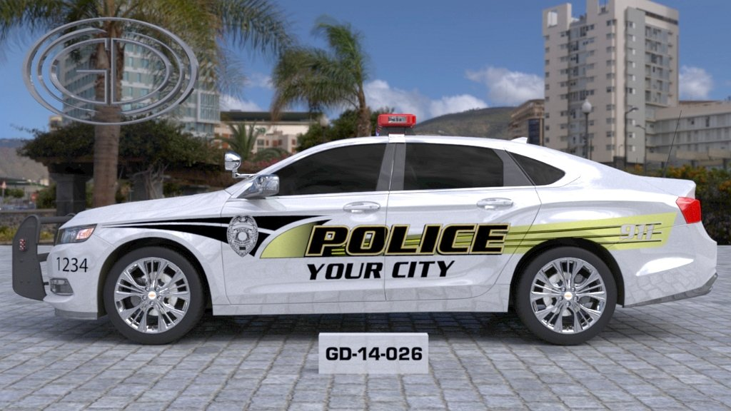 sideview design of your city fire rescue car with a model of GD-14-026
