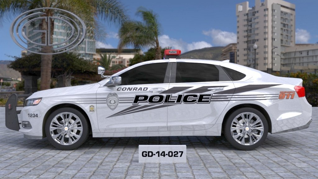 sideview design of a conrad police car GD-14-027