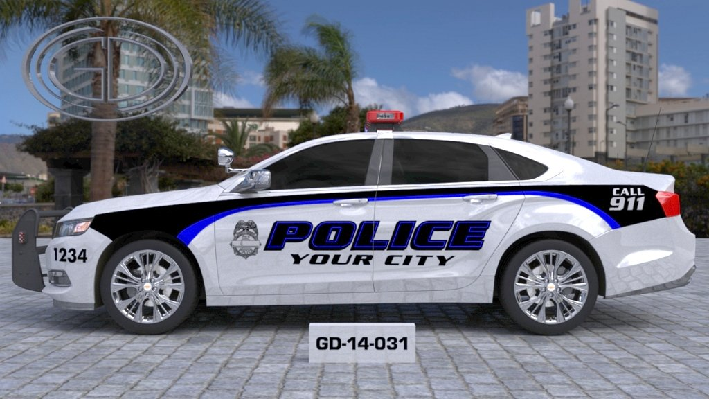 sideview design of your city fire rescue car with a model of GD-14-031