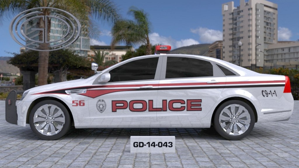 sideview design of a police car GD-14-043