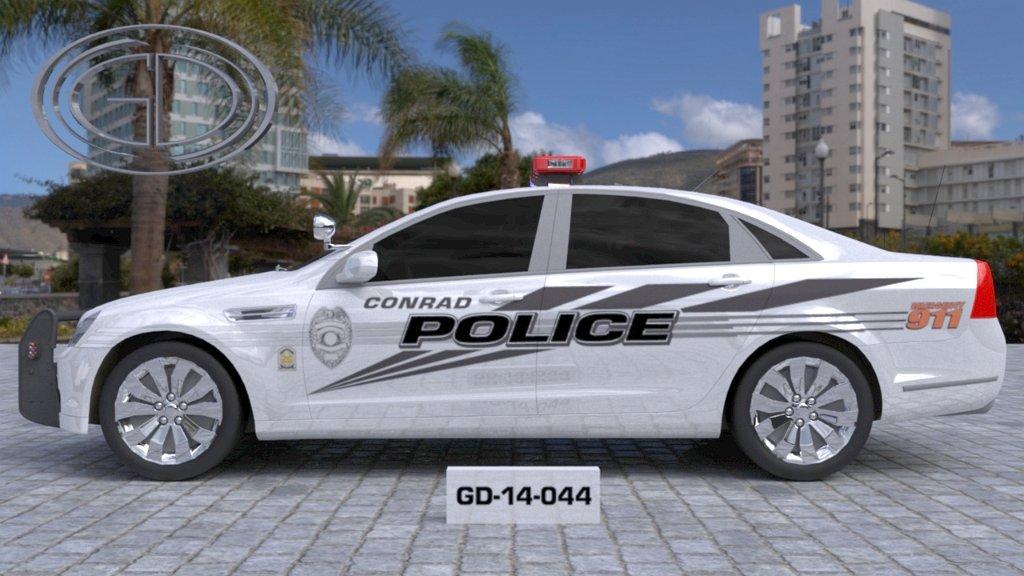 sideview design of a conrad police car GD-14-044