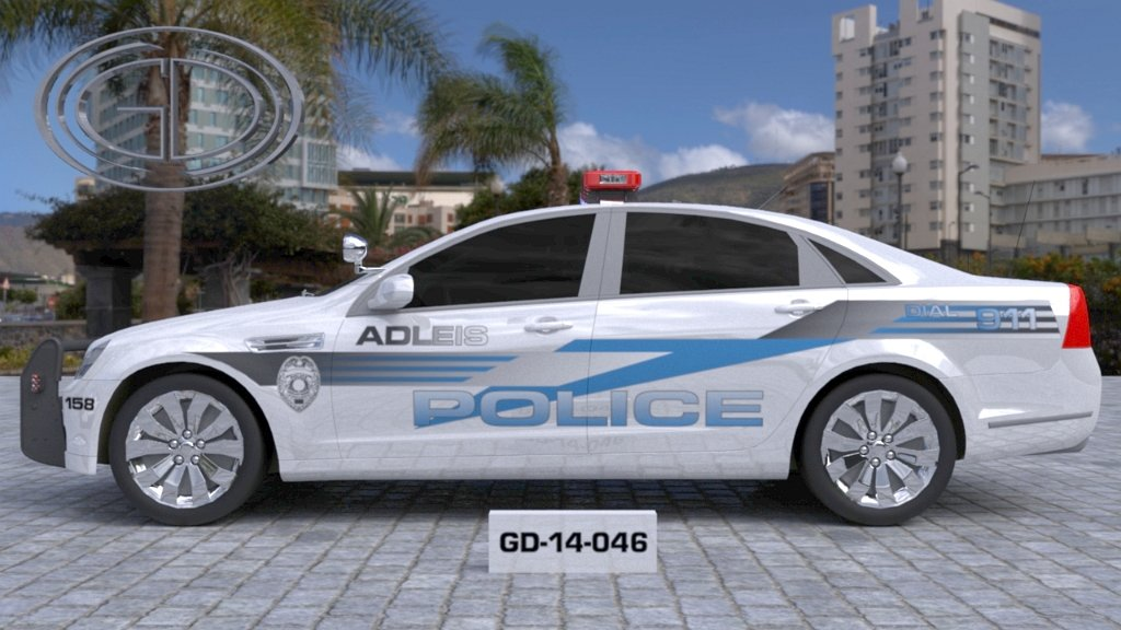 sideview design of a police car adleis