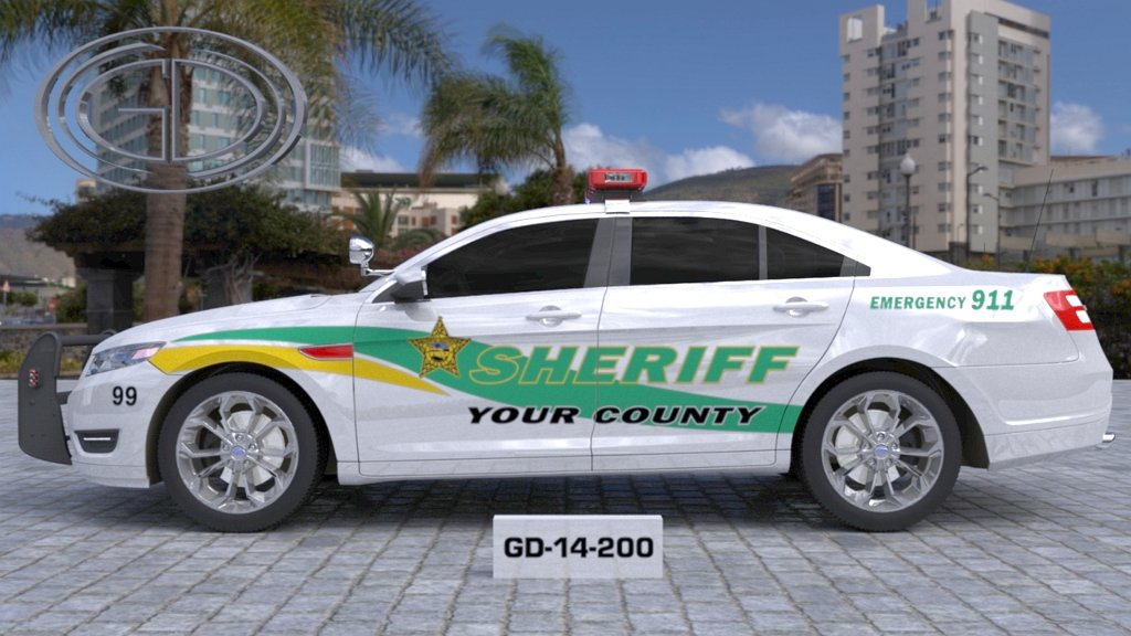 sideview design of your county sheriff suv car GD-14-200