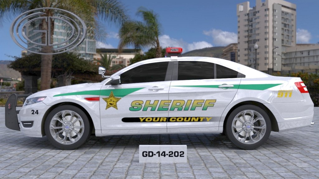 sideview design of your county sheriff suv car GD-14-202