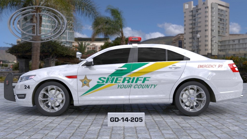 sideview design of your county sheriff suv car GD-14-205