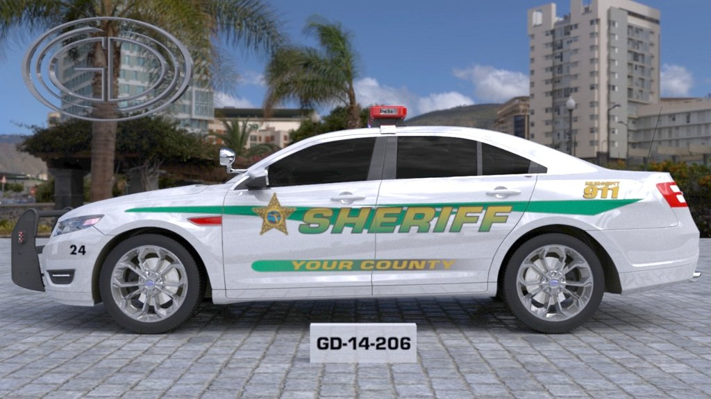 sideview design of a your county sheriff suv car GD-14-206