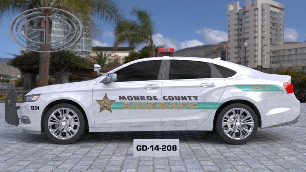 monroe sheriff car with light green line design