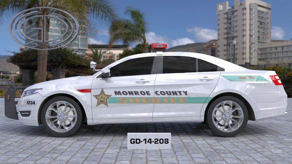 sideview design of monroe county sheriff suv car GD-14-208