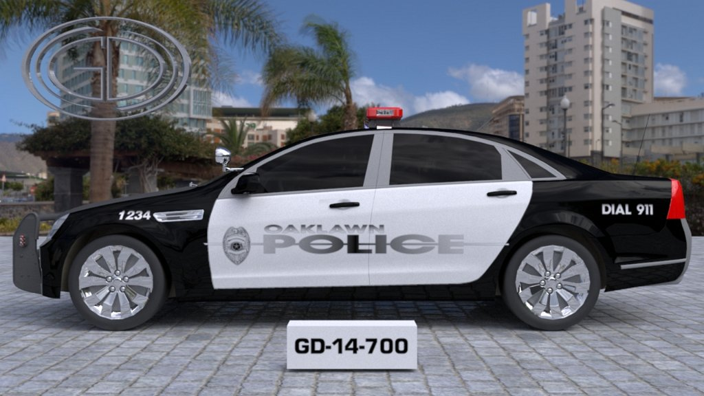 sideview design of a police car oaklawn