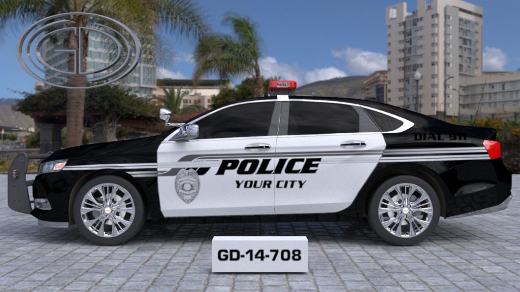 sideview design of your city fire rescue car with a model of GD-14-708