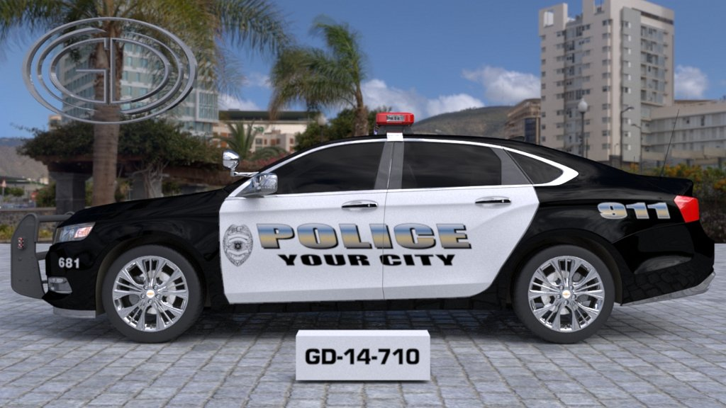 sideview design of your city fire rescue car with a model of GD-14-710
