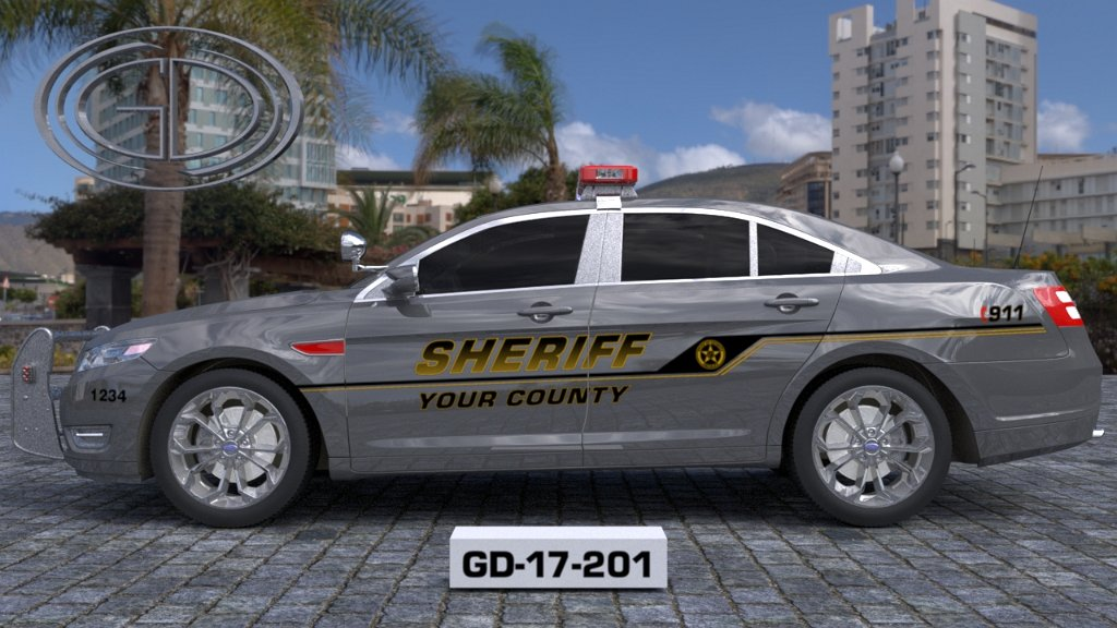 sideview design of yourcounty sheriff suv car GD-17-201