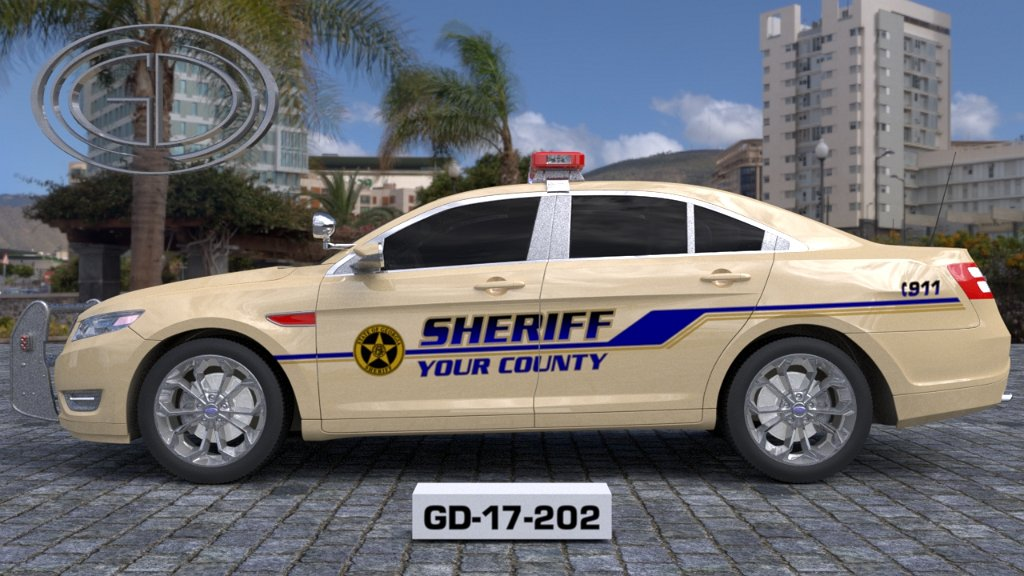 sideview design of your county sheriff suv car GD-17-202