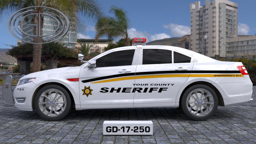 sideview design of your county sheriff suv car GD-17-250