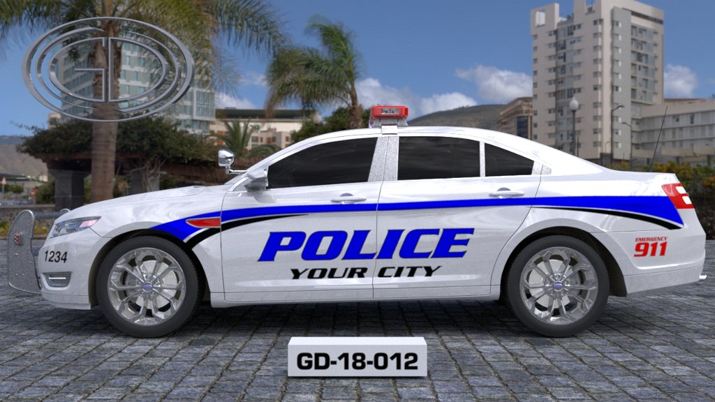 sideview design of a your city police car GD-18-012