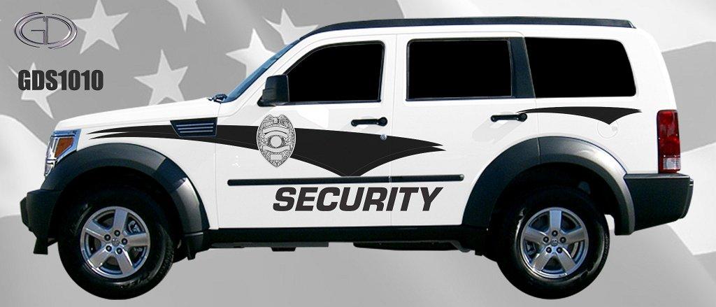 gdi security car black and white design