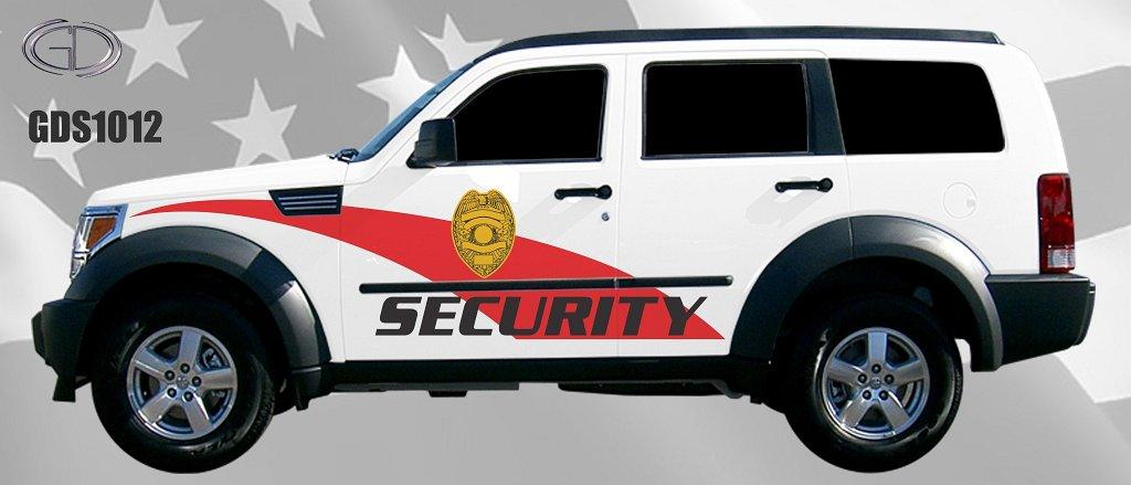 graphic design of security car