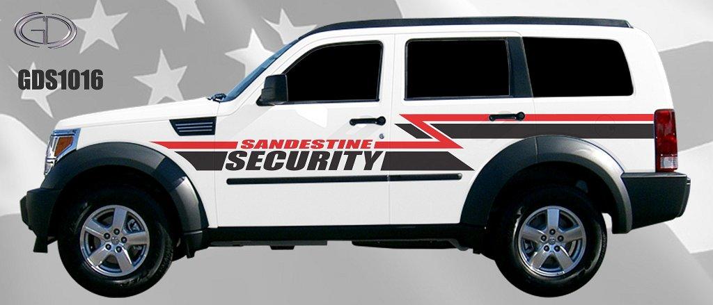 graphic design of gdi for sandestine security car