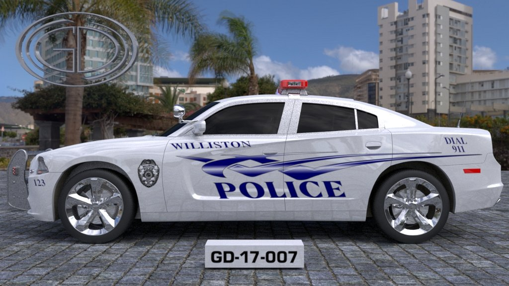 sideview design of a williston police car