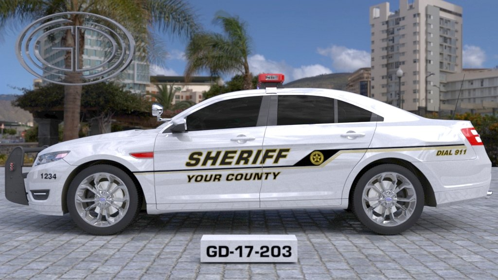sideview design of your county sheriff suv car GD-17-203