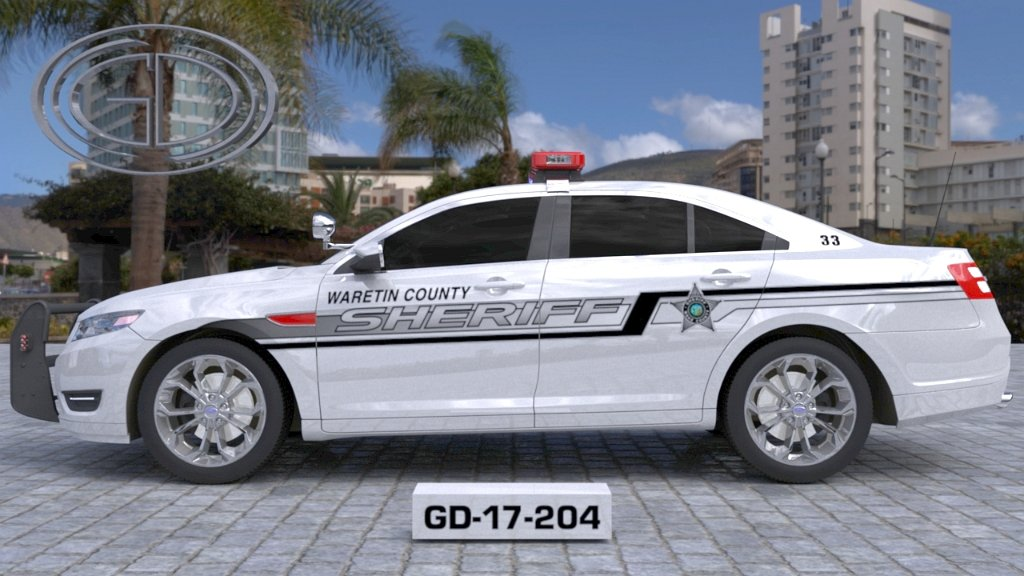 sideview design of a waretin county sheriff suv car GD-17-204