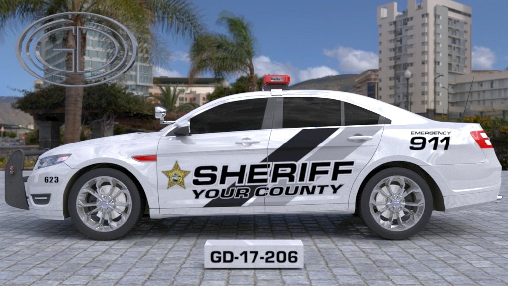 sideview design of your county sheriff suv car GD-17-206