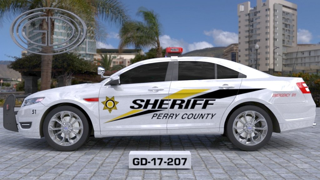 sideview design of penny county sheriff suv car GD-17-207