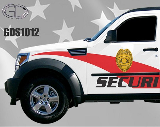 graphic design of gdi for security car