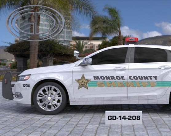 sideview design of a monroe county sheriff suv car GD-14-208