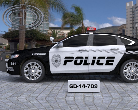 gdi sketch black and white lakeside police with grey line design