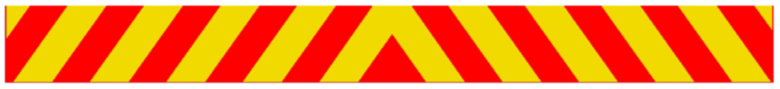 yellow and red stripe lines design for the back of a car
