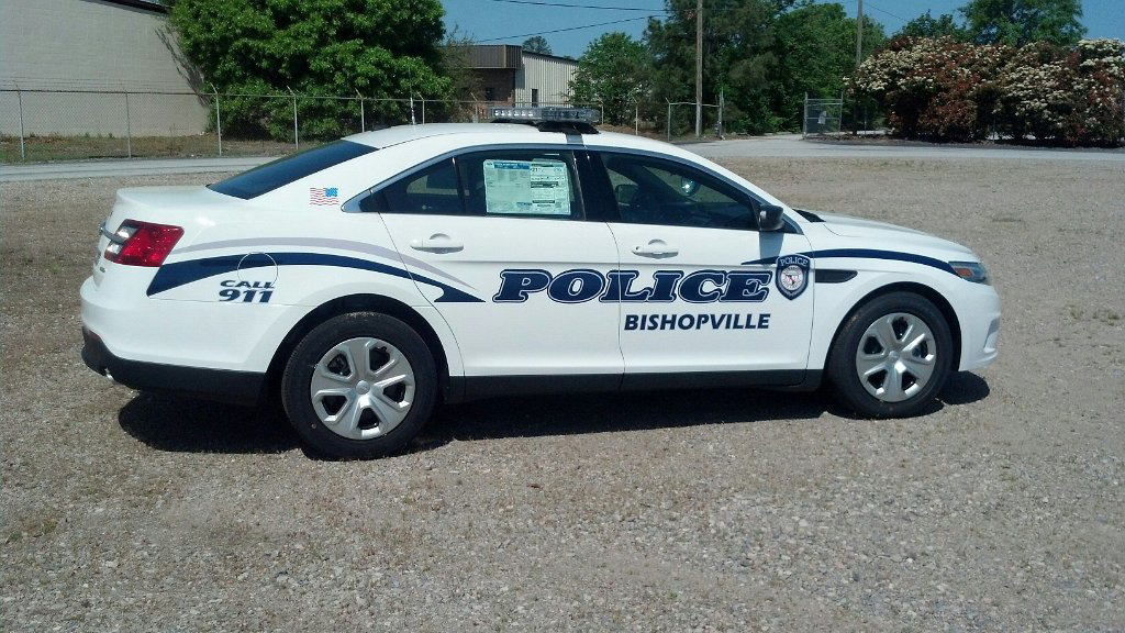 sideview design of a bishopville police car