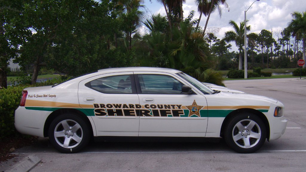 sideview design of a broward county sheriff car