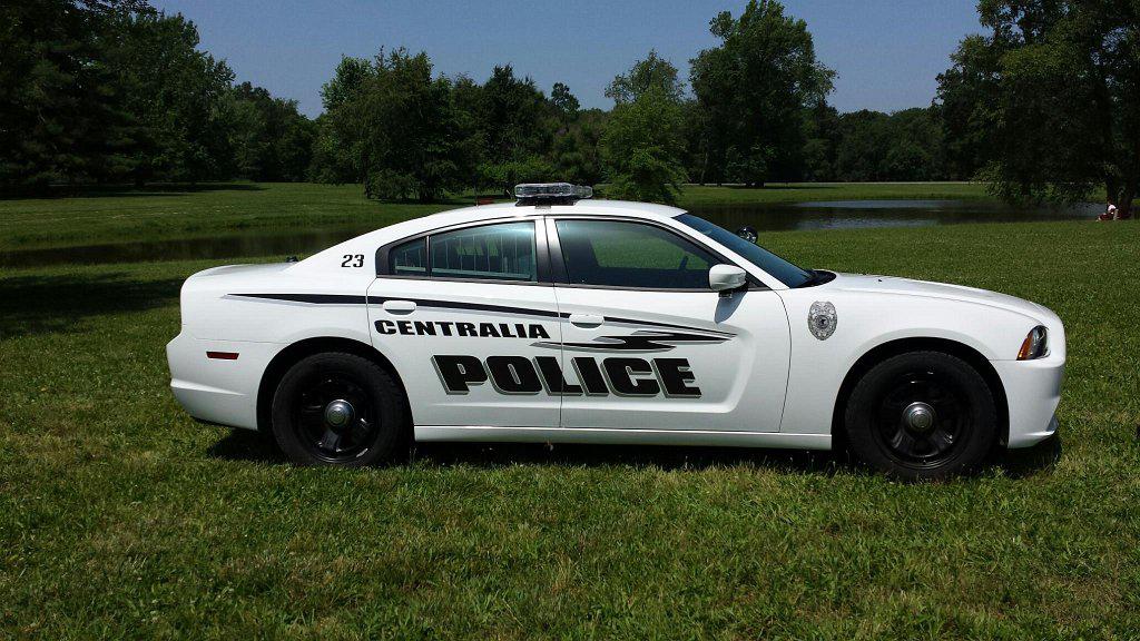 graphic design of centralia police white car