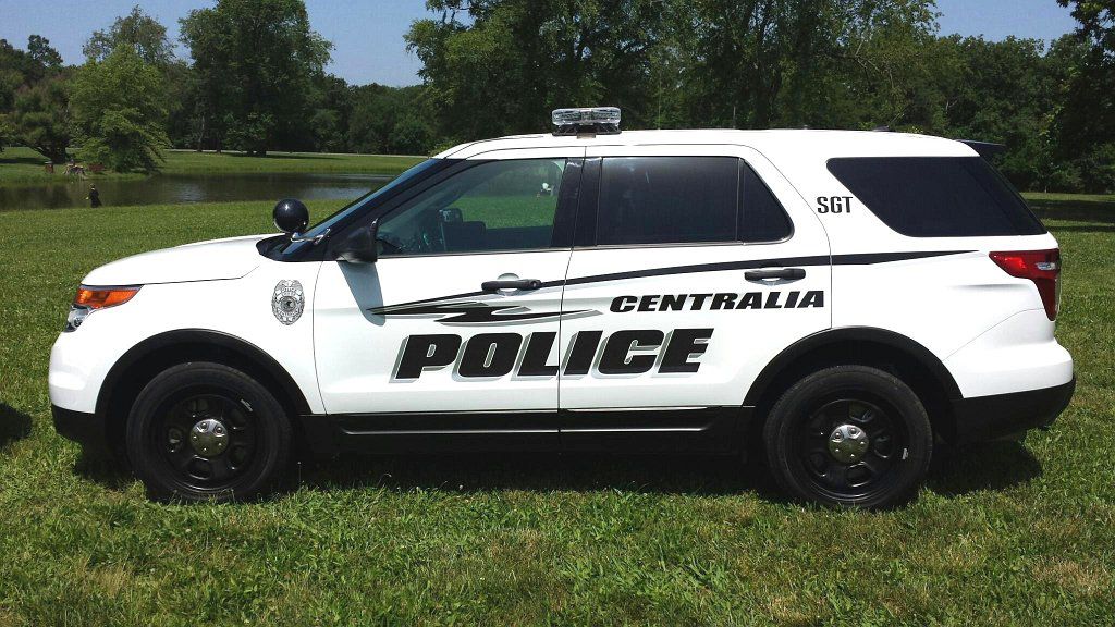 sideview design of a centralia police suv car