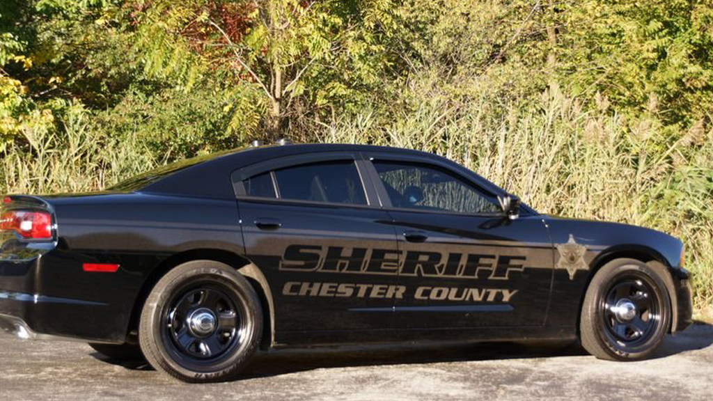 sideview design of chester county sheriff suv car black