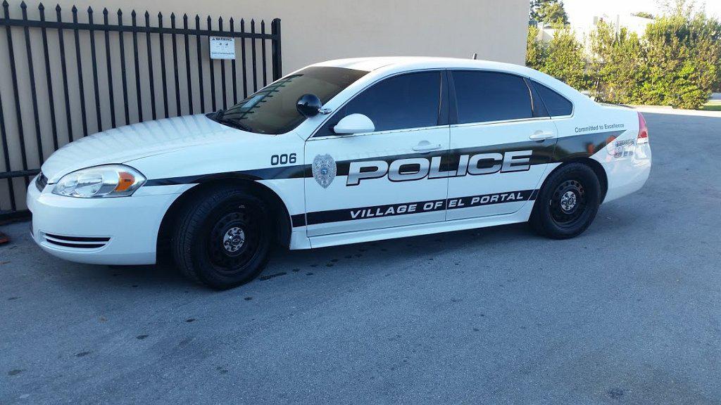 side view design of village of el portal police car