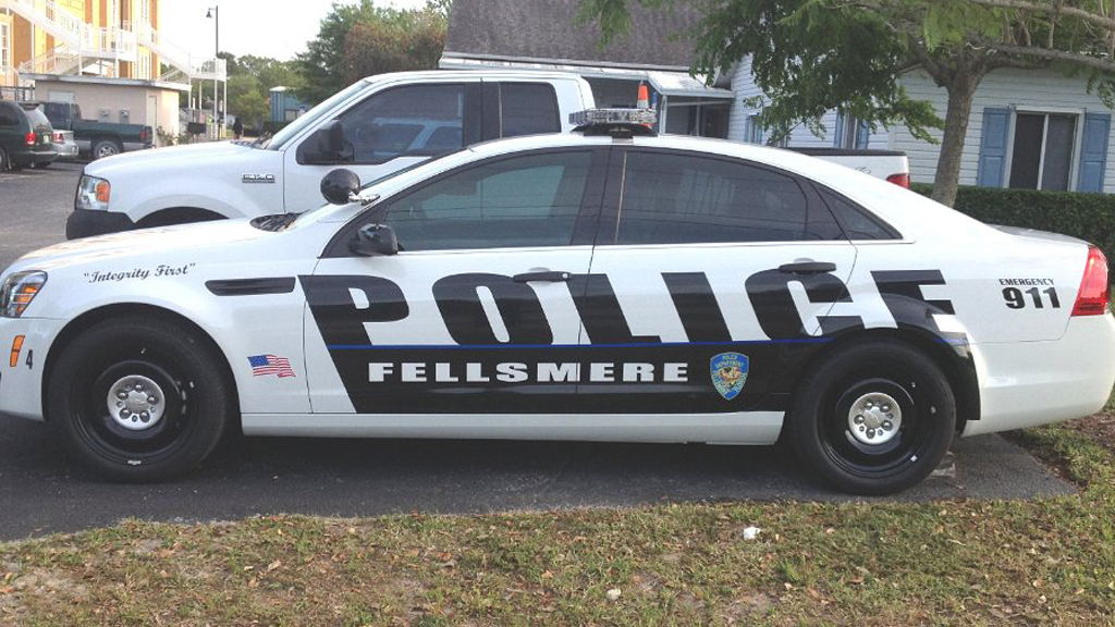 graphic design of fellsmere police car