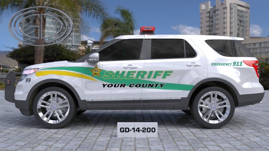 sideview design of a your county sheriff suv car GD-14-200