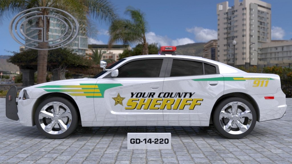 sideview design of a your county sheriff suv car GD-14-220