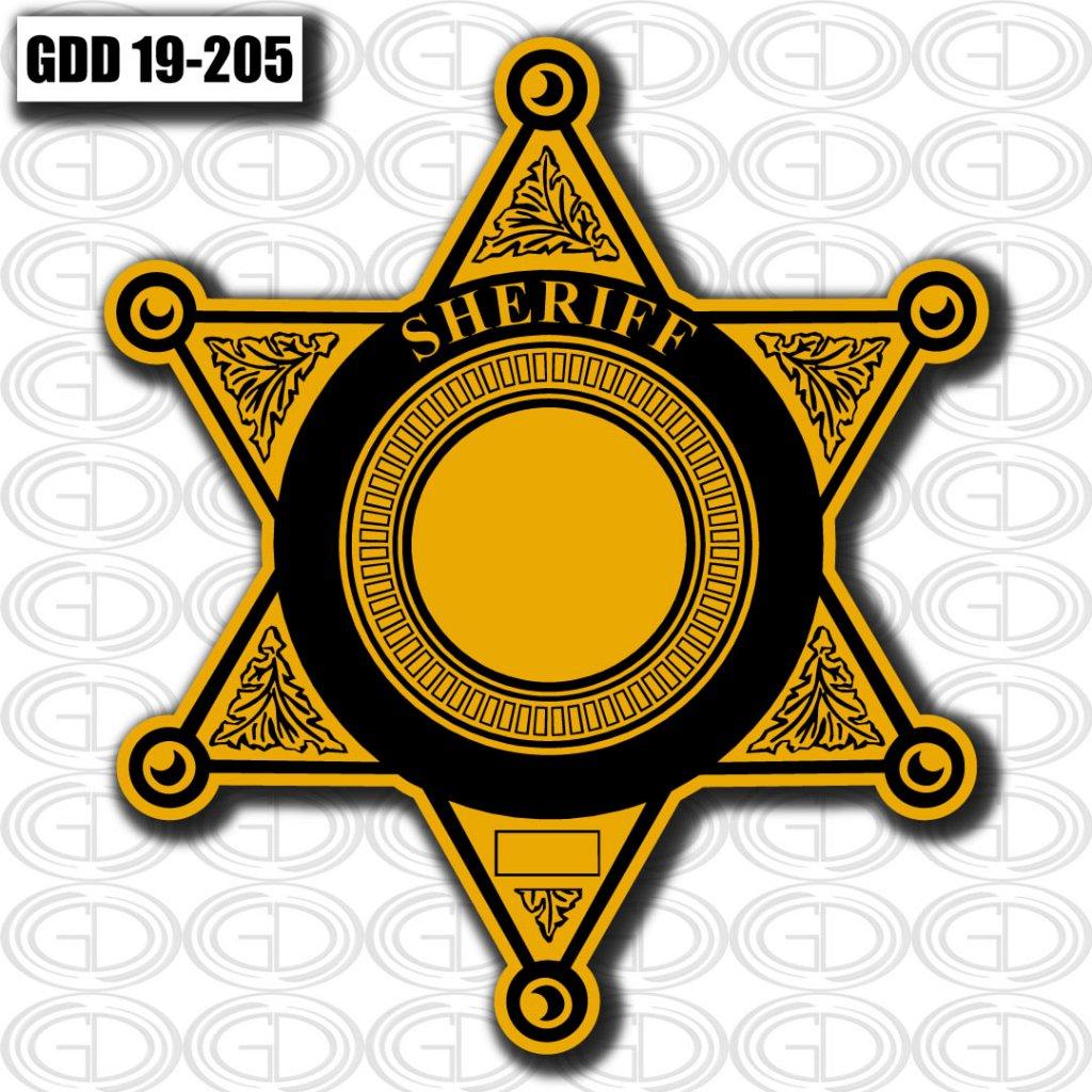 office logo design of sheriff GDD-19-205