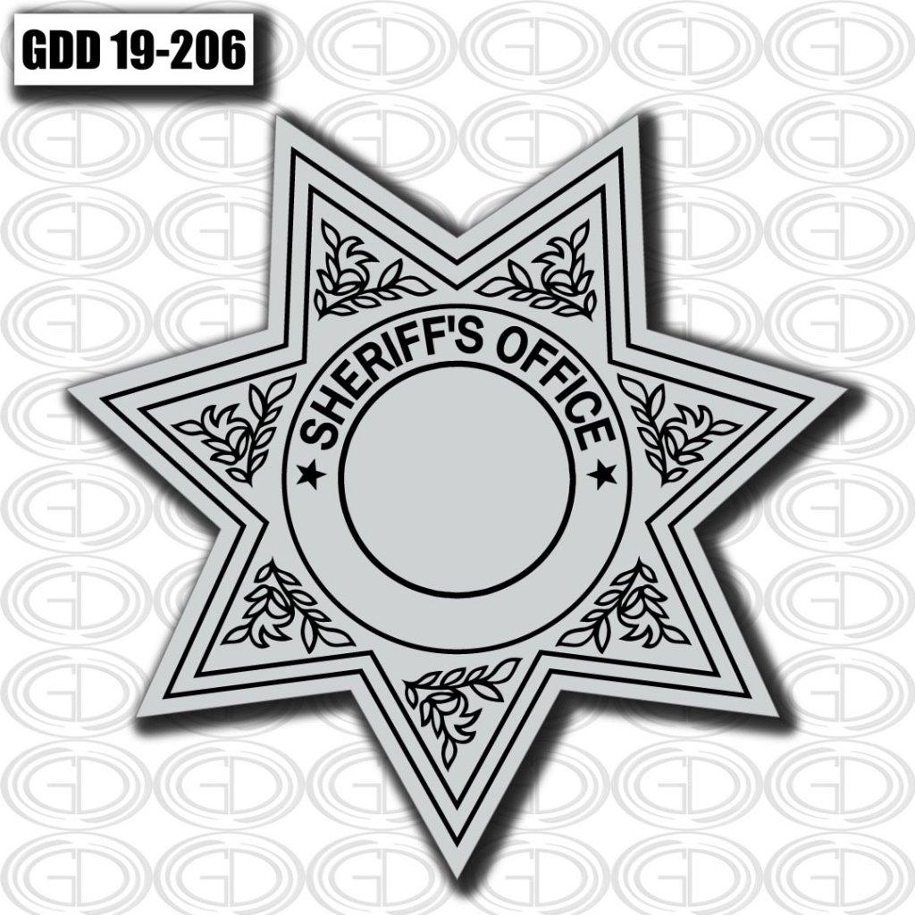 graphic design of sheriff office star logo