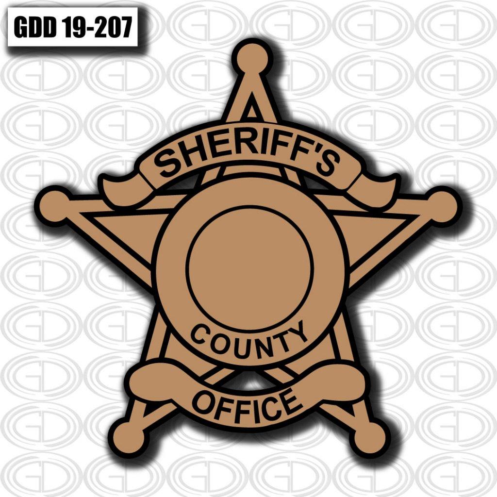 star sheriff county logo graphic design