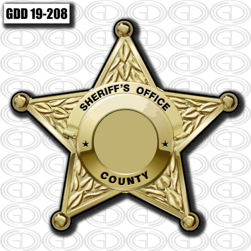 gdi sketch star sheriff county gold design